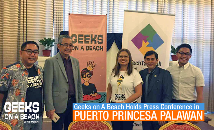 Geeks On A Beach (GOAB)Holds Press Conference in Puerto Princesa Palawan